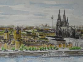 Köln von oben (Eigentum meiner Tochter Beatrix)