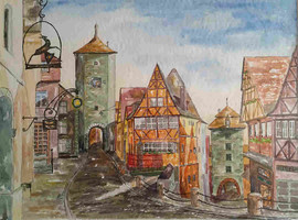 Rothenburg ob der Tauber, 1991 (Eigentum meiner Schwester Elisabeth)
