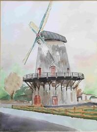 Windmühle in Glandorf, 1984 (Eigentum meiner Schwester Elisabeth)