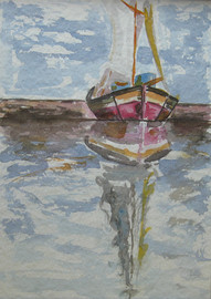 Segelboot, 1982 (Eigentum meiner Tochter Beatrix)